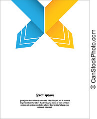 abstract origami speech bubble with special design