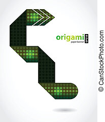 abstract origami with special design