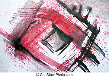 Abstract original watercolor background