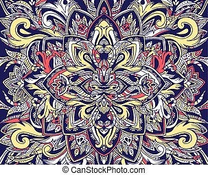 Abstract ornament art traditional, Islam, arabic, indian, ottoman motifs, elements. Vector illustration can be used for design of a t-shirt, bag, a poster, greeting card, invitation or case for phone