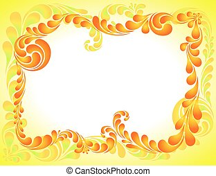 abstract ornament, bright frame