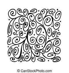 Abstract ornament for your design