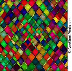 abstract ornament rhombuses - abstract colored background...