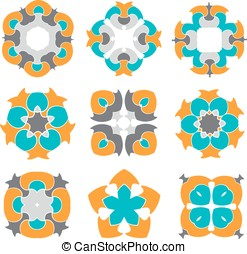 Abstract ornament set