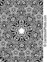 Abstract ornamental background - Black and white abstract...