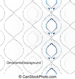 Abstract ornamental background. Vector