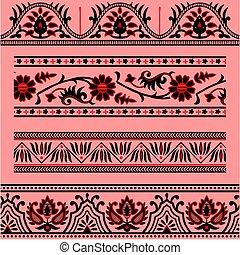 abstract ornamental border pattern