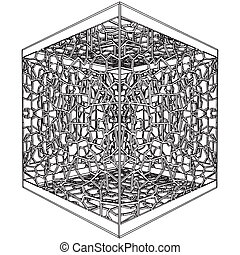 Abstract Ornamental Cage