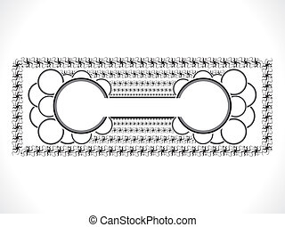 abstract ornamental circle border