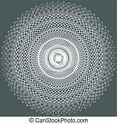 Abstract Ornamental Fractal Constructions Vector