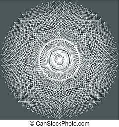 Abstract Ornamental Fractal Constructions Vector