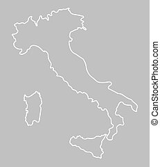 abstract outline of map of Italy