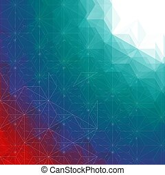 Abstract outline triangles background