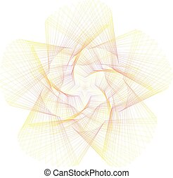 Abstract overlay gradient orange star symbol