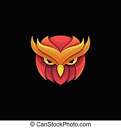 Abstract Owl Design illustration vector template
