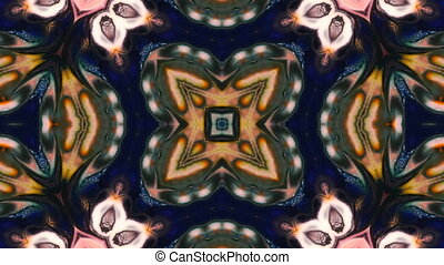 Abstract Paint Brush Ink Symmetric Kaleidoscope