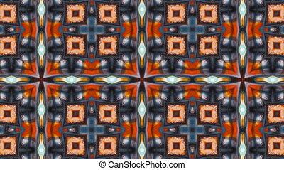 Abstract Paint Brush Ink Symmetric Kaleidoscope