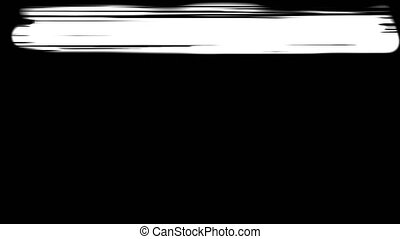 Abstract paint brush stroke. black and white transition background