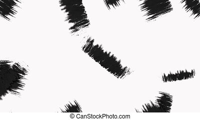 Abstract Paint Brush Transition Reveal with Alpha Channel -...