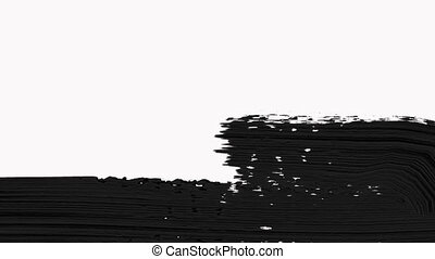 Abstract Paint Brush Transition Reveal with Texture. Alpha...