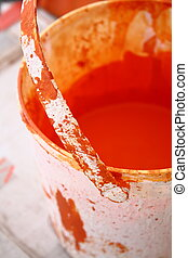 Abstract Paint buket