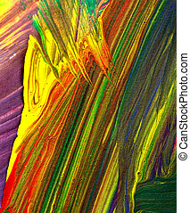 Abstract paint colors
