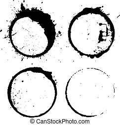 Abstract paint splash circle