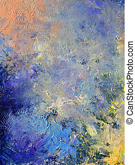 abstract painted background - layers with oil paints -...