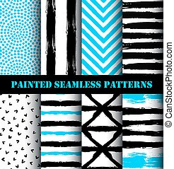 Abstract Painted Pattern Set
