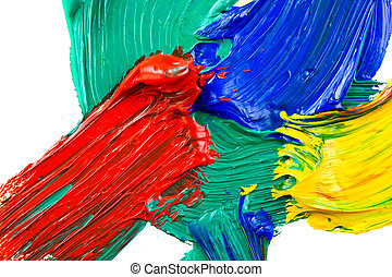 Abstract  painted - Abstract acrylic painted background
