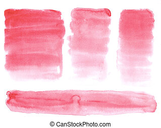 Abstract painted watercolor background on paper texture