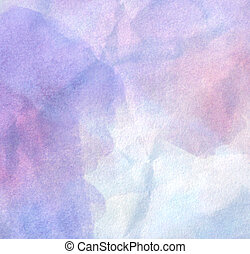 Abstract painted watercolor background on paper texture.