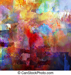 abstract painted background - created by combining different layers of paint