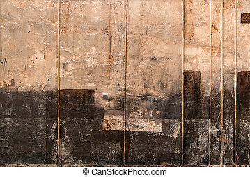 Abstract Painting Art: Beige and Black Colors