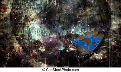Eternal universe - Abstract painting. Eternal universe. ...