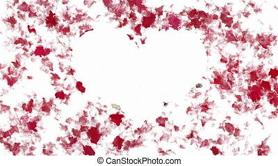 Abstract painting heart symbol - Random animated paint blobs...