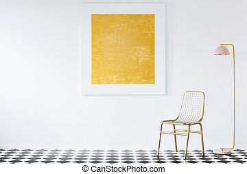 Abstract painting in luxurious interior