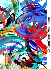 Abstract painting styled background - Colorful background in...