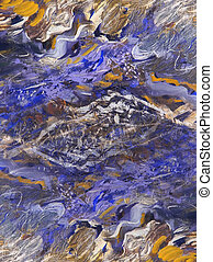 Abstract paintings on oil canvas