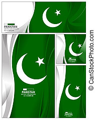 Abstract Pakistan Flag Background. - Pakistan flag abstract...