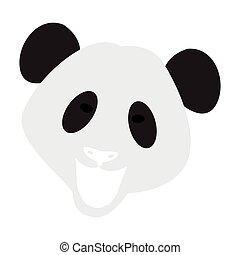 Abstract panda face