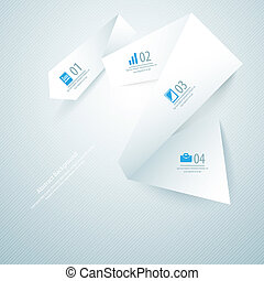 Abstract paper background. Vector illustration for your business presentation
