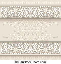 Abstract paper border decoration