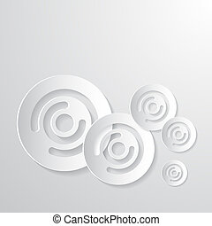 Abstract Paper Circle Background
