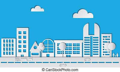 Abstract Paper City in Vector