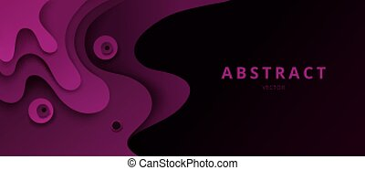 Abstract paper cut vector background, 3d effect