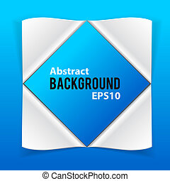 Abstract paper elements on blue background