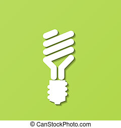 Energy-Saving Light Bulb. Vector - Abstract paper Energy-...