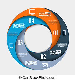 Abstract paper infografics in a circle shape. Vector eps10...