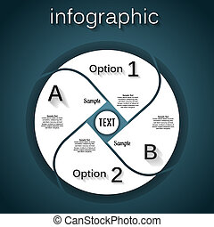 Abstract paper infografics. Template for your business presentation